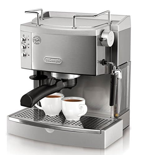 DeLonghi EC702 15-Bar-Pump Espresso Maker With Stainless Steel And Metal
