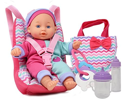 Baby Doll Car Seat with Toy Accessories