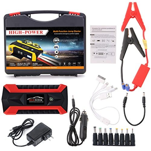 4 USB Portable Car Jump Starter Pack Booster Charger Battery Power Bank