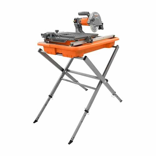 RIDGID TILE SAW WITH FOLDABLE STAND