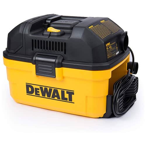 DeWALT Portable 4 gallon Wet/Dry Vacuum, Yellow