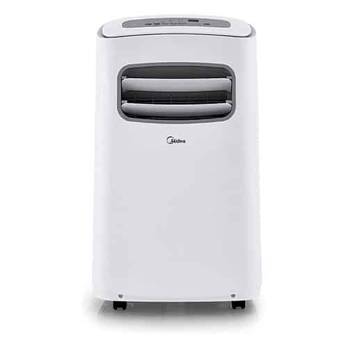 MIDEA MPF10CR81-E Portable Air Conditioner BTU Easycool AC (Cooling, Dehumidifier and Fan Functions) for Rooms up to with Remote Control - 10,000 - White