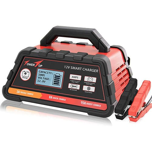 2/8/15A 12V Smart Battery Charger/Maintainer Fully Automatic