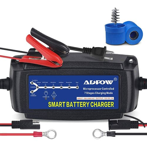 ADPOW 5A 12V Automatic Smart Battery Charger Automotive Maintainer