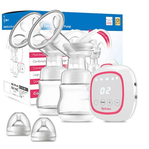 Double Electric Breast Pump, Portable Dual Breastfeeding Milk Pump with Touch Screen