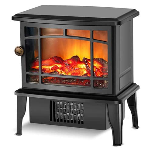 Fireplace Heater Electric Fireplace Stove w/Fast Heating System