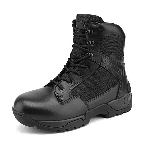 NORTIV 8 Men's Military Tactical Work Boots Side Zipper