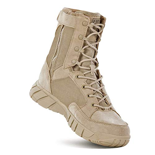 FREE SOLDIER Men's Tactical Boots 8 Inches Lightweight Combat Boots