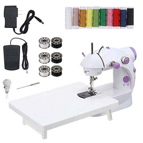 CHARMINER Mini Sewing Machine with Extension Table